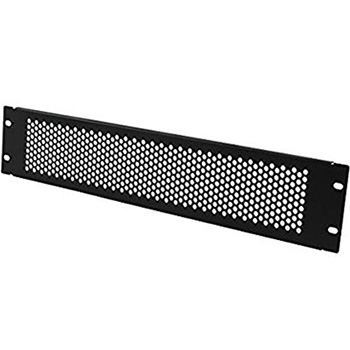 2U Perforated Blanking Panel Black