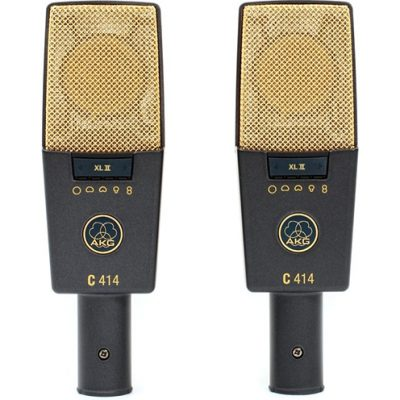 AKG C414 XLII Matched Pair Reference multipattern condenser microphones