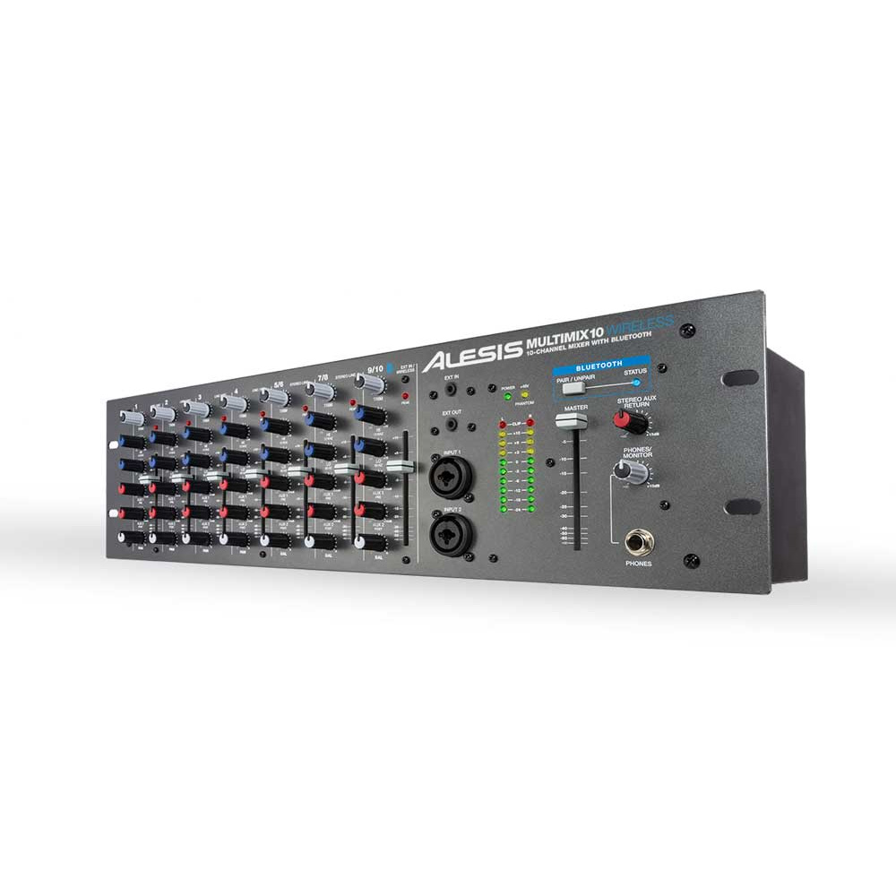 Alesis Multimix 10 W, 10-Channel Mixer with Integrated Bluetooth Wireless Capability