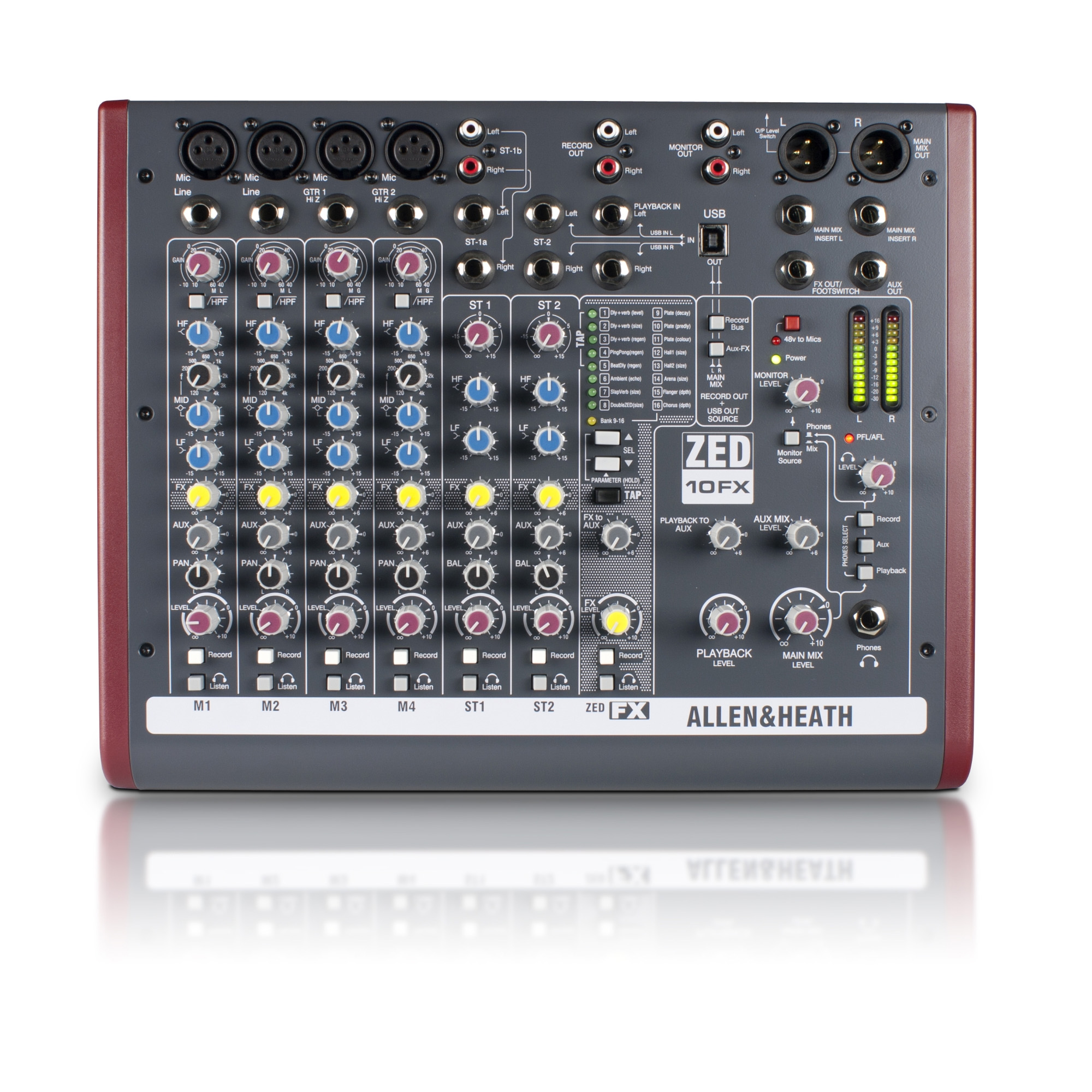 Allen & Heath ZED-10FX Mixer with USB and Effects