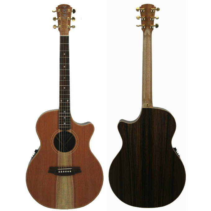 Cole Clark Angel 2 Series CCAN2EC-RDRW Redwood Top with Indian Rosewood Back and Sides