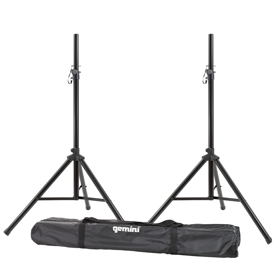 "Gemini Series ST-Pack Professional Audio DJ Fold-Out Telescoping Tripod Stands Up to 80"" Tall"