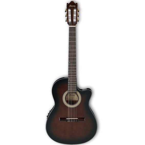 Ibanez GA35TCE-DVS Classical Series Thinline Cut-Away Classical Acoustic Electric Guitar