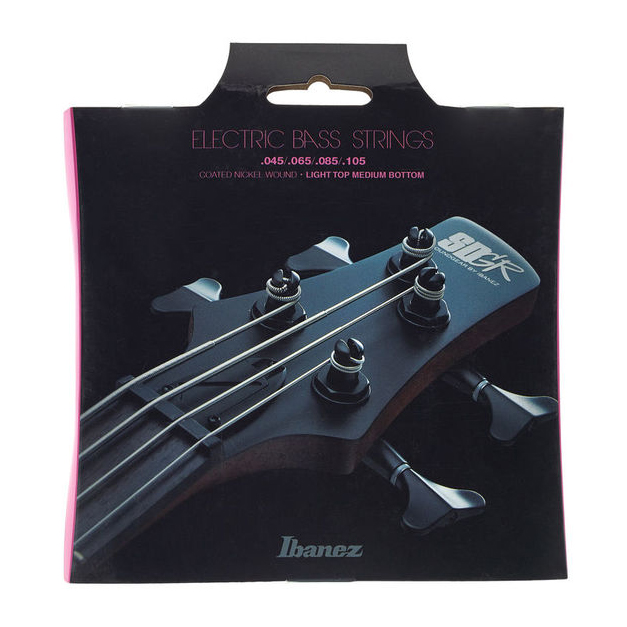 Ibanez IEBS4C 4 String Coated 45-105 Light Top Medium Bottom Bass Guitar Strings
