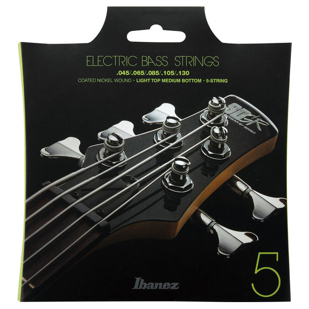 Ibanez IEBS5C 5 String Coated 45-130 Light Top Medium Bottom Bass Strings