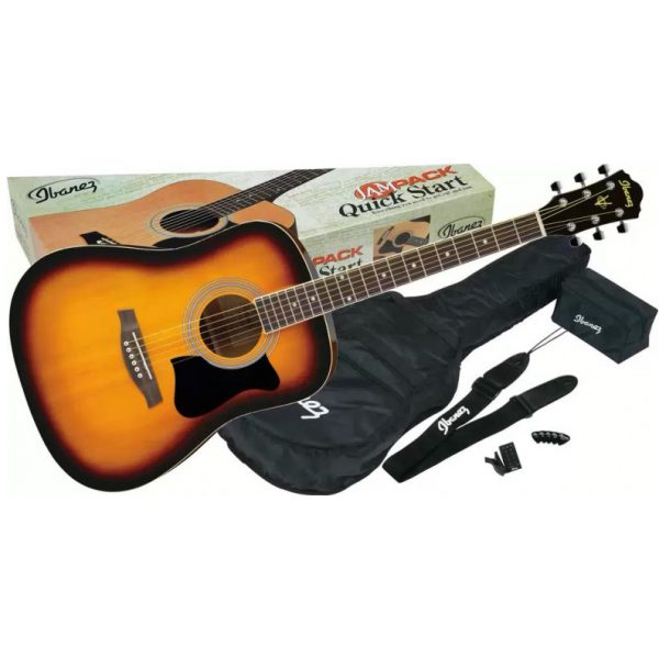 Ibanez V50NJP-VS Jampack Series Dreadnought Acoustic Guitar Starter Pack