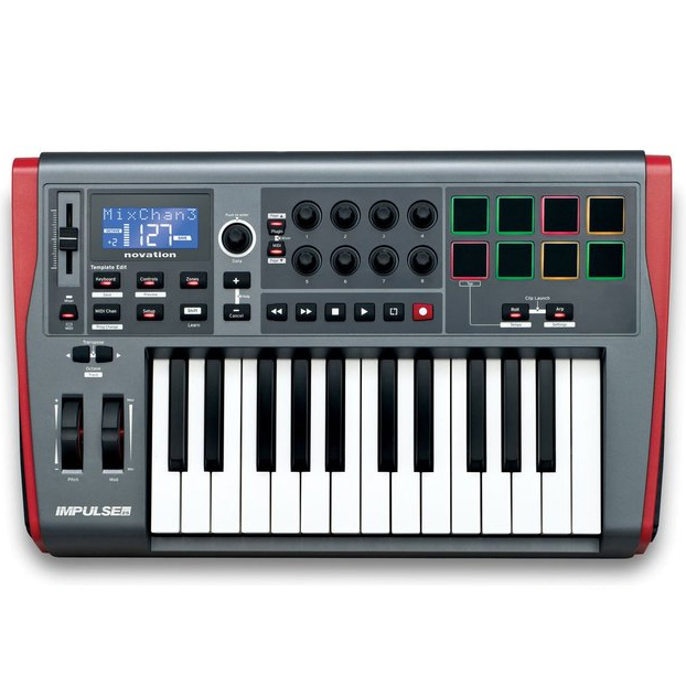 novation launchkey mini 25 mini key usb controller keyboard nxt level tech audio lighting. Black Bedroom Furniture Sets. Home Design Ideas