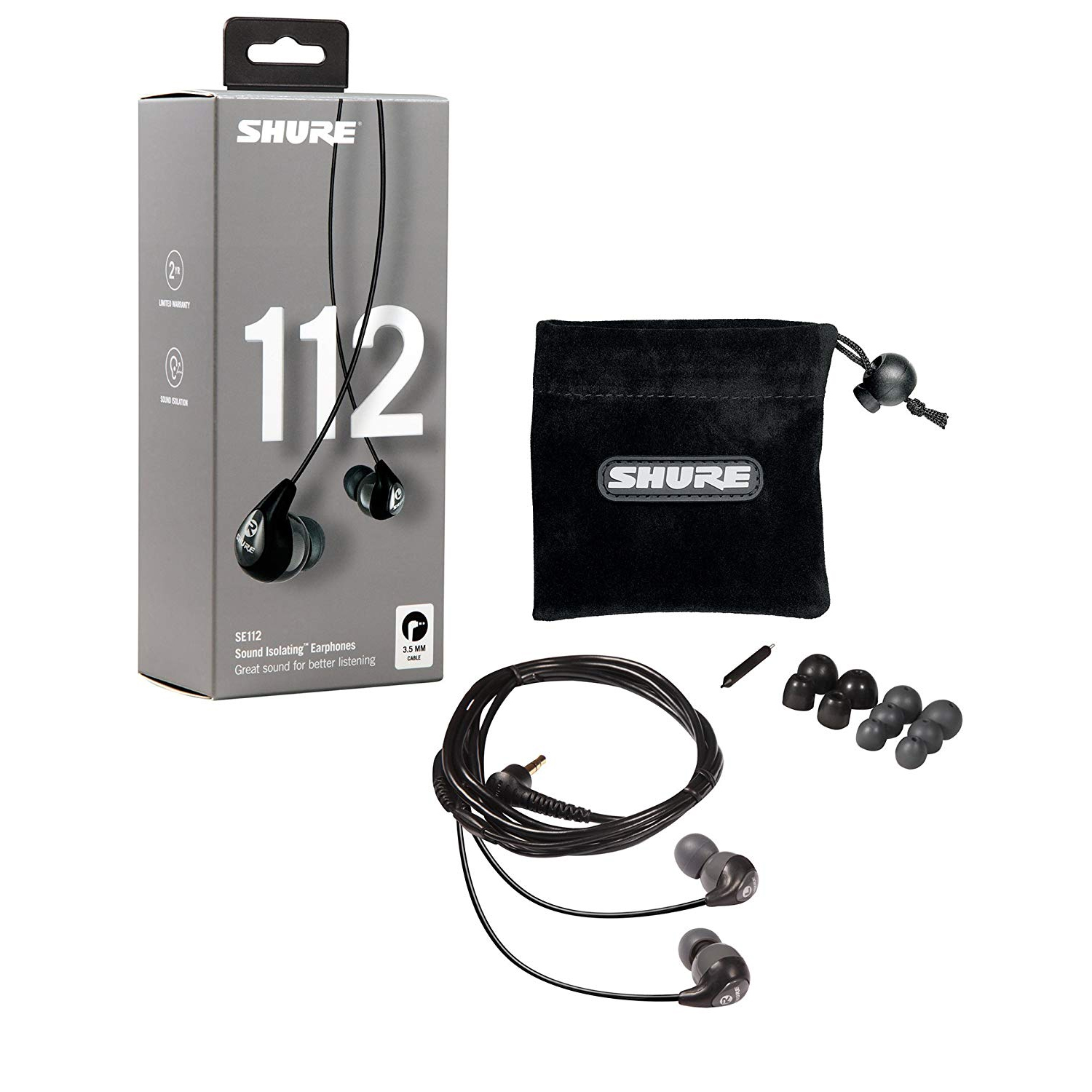Shure SE112 Sound Isolating Earphones