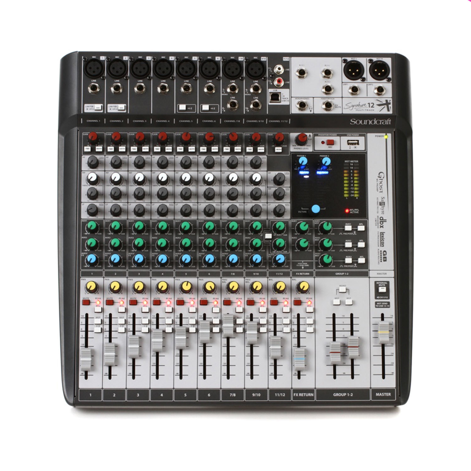 Soundcraft Signature 12 MTK Mixer and Audio Interface with Effects